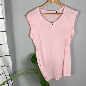 William Rast Pink Short Sleeve